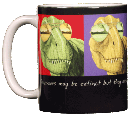 Imagine T-Rex Ceramic Mug - Front