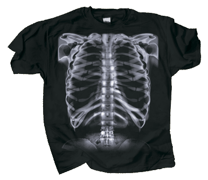 Skeleton X-Ray Adult T-shirt - Front