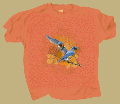 Bluebird Lace Adult T-shirt - Front
