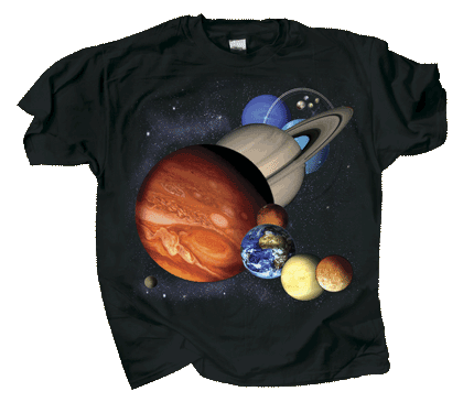 Planets & Dwarf Planets Adult T-shirt - Front