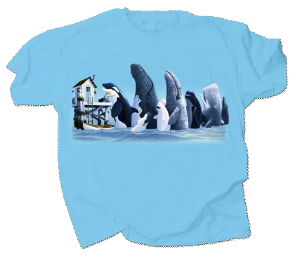 Whale Hugger Youth T-shirt