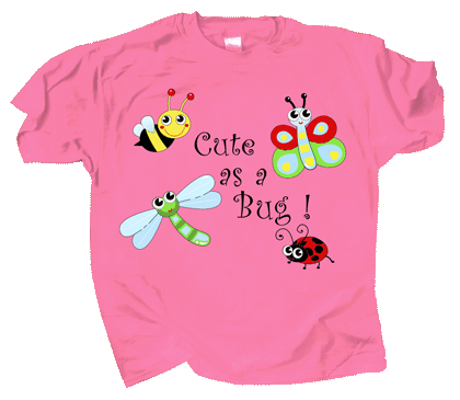 Cute As A Bug Youth T-shirt - Front