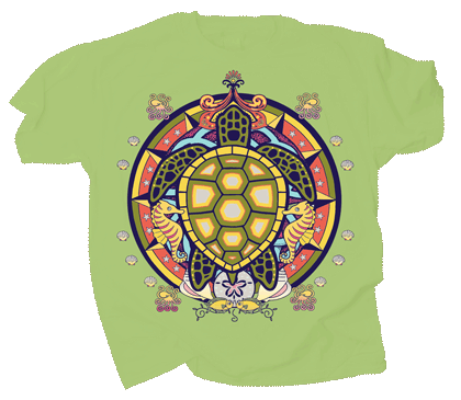 Sea Turtle Hex Youth T-shirt