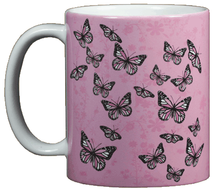 Good & Plenty Butterflies Ceramic Mug - Front
