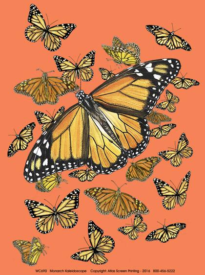 Monarch Kaleidoscope Ladies Scoop Neck