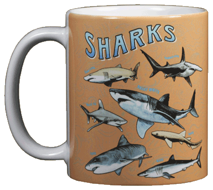 Shark School Ceramic Mug - Front