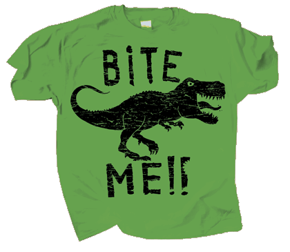 Dino Bite Me Youth T-shirt