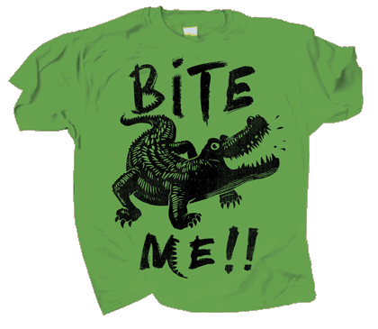 Gator Bite Me Adult T-shirt