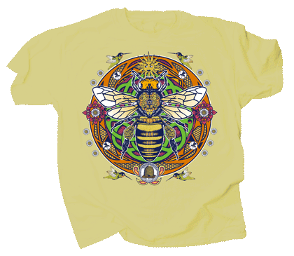 Honey Bee Hex Youth T-shirt