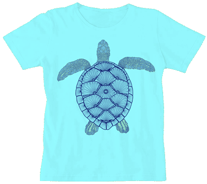 Green Sea Turtle Ladies Scoop-Neck Tee