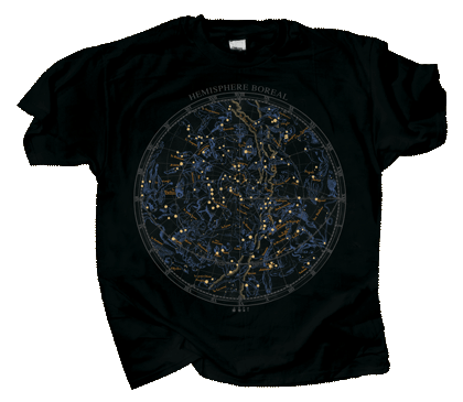 Boreal Star Chart Adult T-shirt