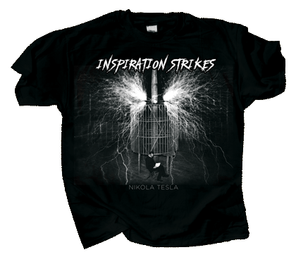 Tesla's Inspiration Adult T-shirt
