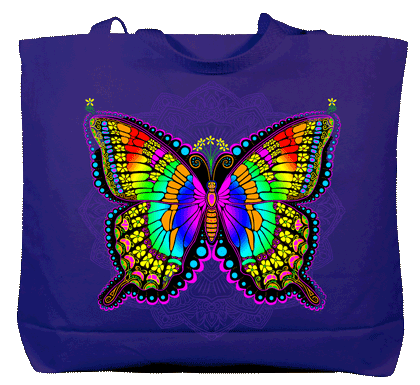 In A Gadda Da Butterfly Canvas Tote