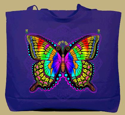 In A Gadda Da Butterfly Canvas Tote