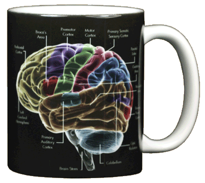 Glow Brain Ceramic Mug - Back