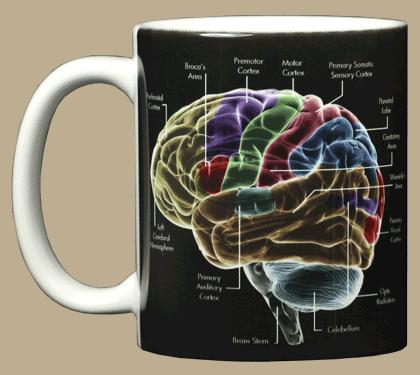 Glow Brain Ceramic Mug - Front