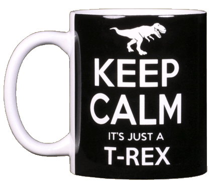 Keep Calm T-Rex Ceramic Mug - Front