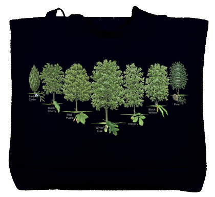 Trees of North America Canvas Tote