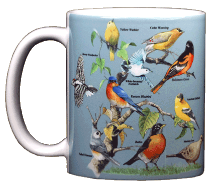 Yard Birds Ceramic Mug - Front