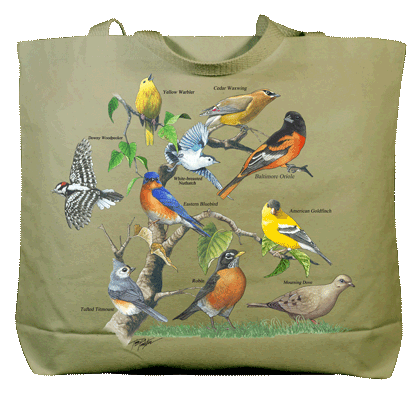 Yard Birds Canvas Tote