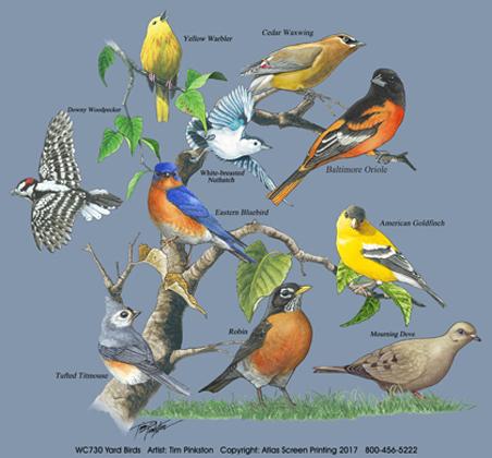 Yard Birds Canvas Tote
