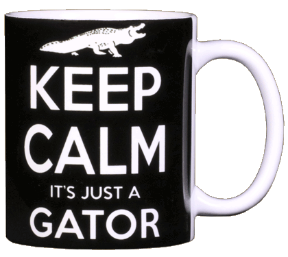 Keep Calm Gator Ceramic Mug - Back