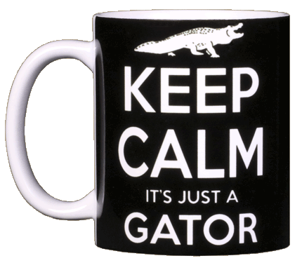 Keep Calm Gator Ceramic Mug - Front