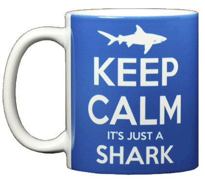 Keep Calm Shark Ceramic Mug