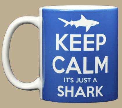 Keep Calm Shark Ceramic Mug