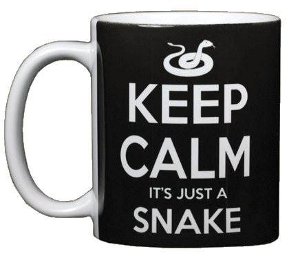 Keep Calm Snake Ceramic Mug - Front