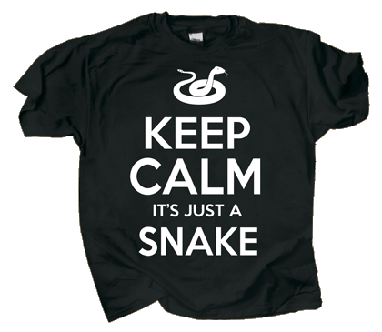 Keep Calm Snake Adult T-shirt