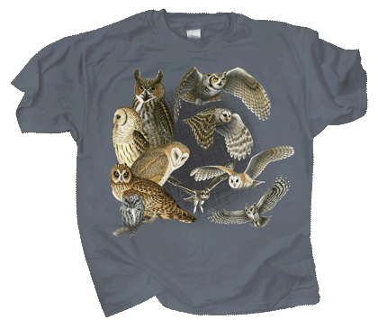 Night Owls Adult T-shirt