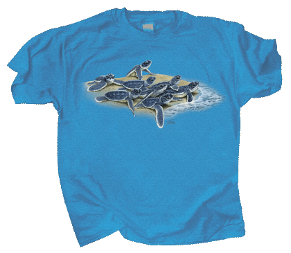 Loggerhead Dash Adult T-shirt (Sea Turtles)