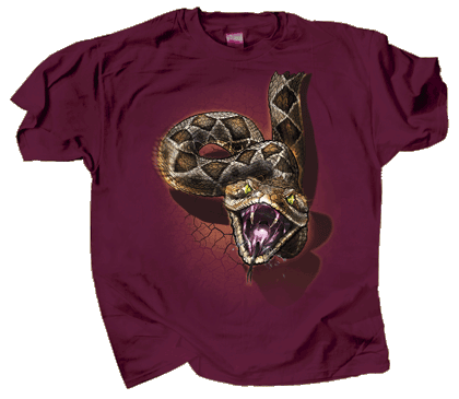 Rattler Heads & Tails Adult T-shirt - Front