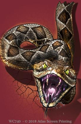 "Rattlesnake Heads & Tails 2"" X 3"" Magnet"