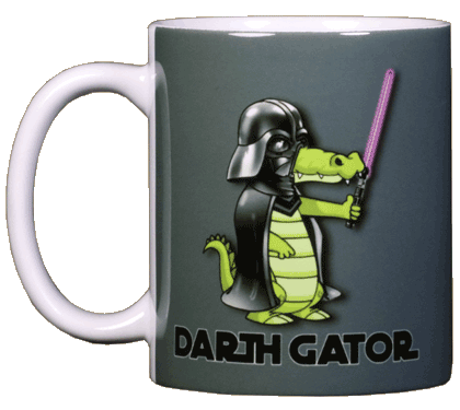 Darth Gator Ceramic Mug - Front