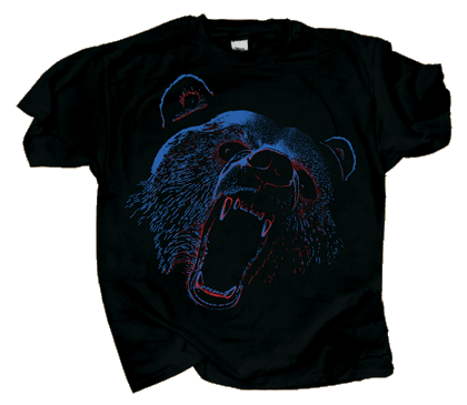 Extreme Black Bear Adult T-shirt