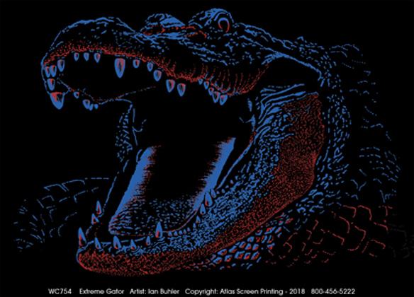 Extreme Gator Adult T-shirt