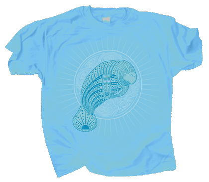 Manatee Mandala Youth T-Shirt