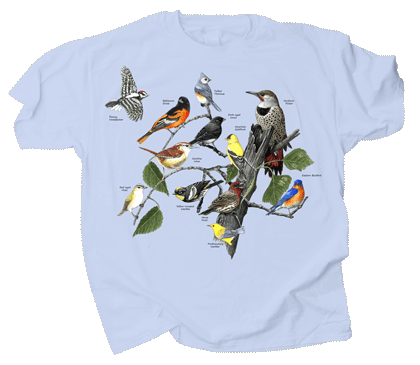 Eastern Birds Adult T-shirt