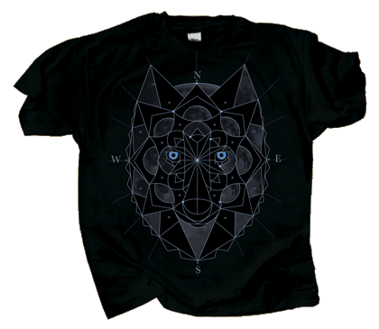 Cosmic Glo Wolf Adult T-shirt