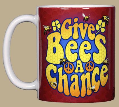 Give Bees A Chance Ceramic Mug - Front