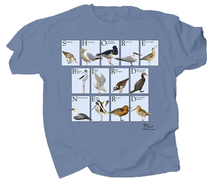 Shorebird Nerd Adult T-shirt
