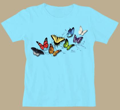 Butterfly Fancy Ladies Scoop-Neck Tee