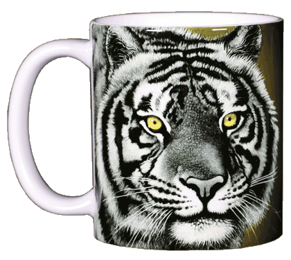 Eye of the Tiger Ceramic Mug - Front