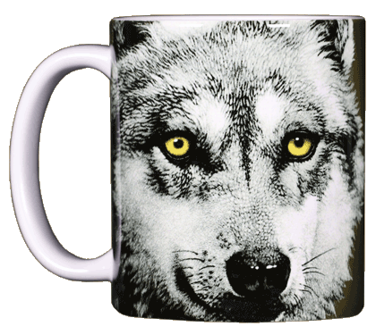 Eye of the Wolf Ceramic Mug - Front