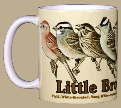 Little Brown Jobs Ceramic Mug - Front