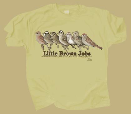 Little Brown Jobs Adult T-shirt