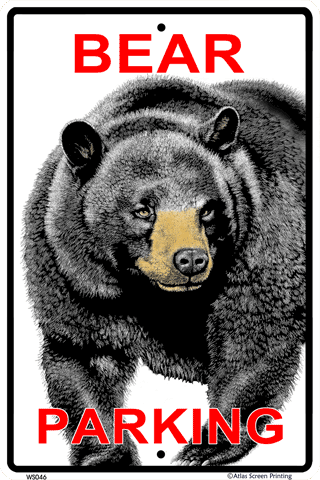 Bear Parking Sign - Front