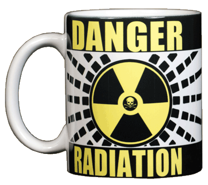 Radiation Warning Ceramic Mug - Front